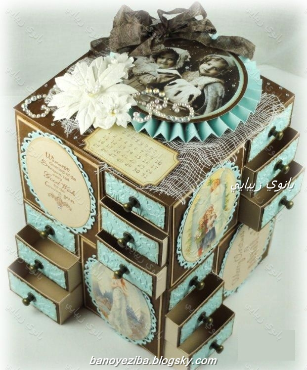 ساخت کشو با مقوا پارچه ساخت وسایل دست ساز - صفحه 25