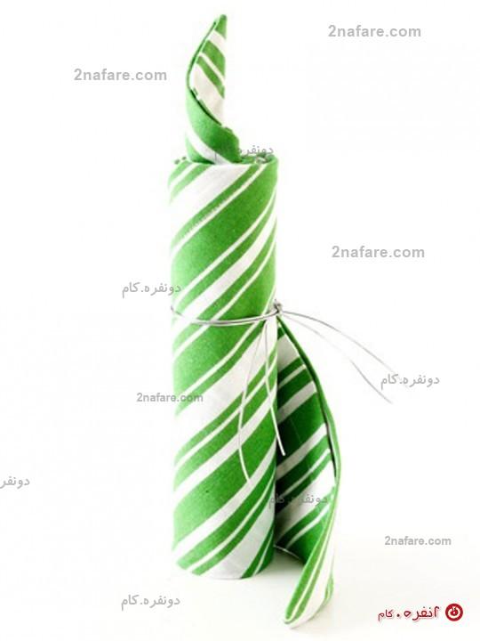 آموزش دوخت دستمال پشتی ساخت وسایل دست ساز
